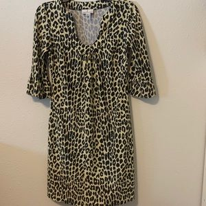 JUDE CONNALLY Megan Dress Leopard Print U Neck